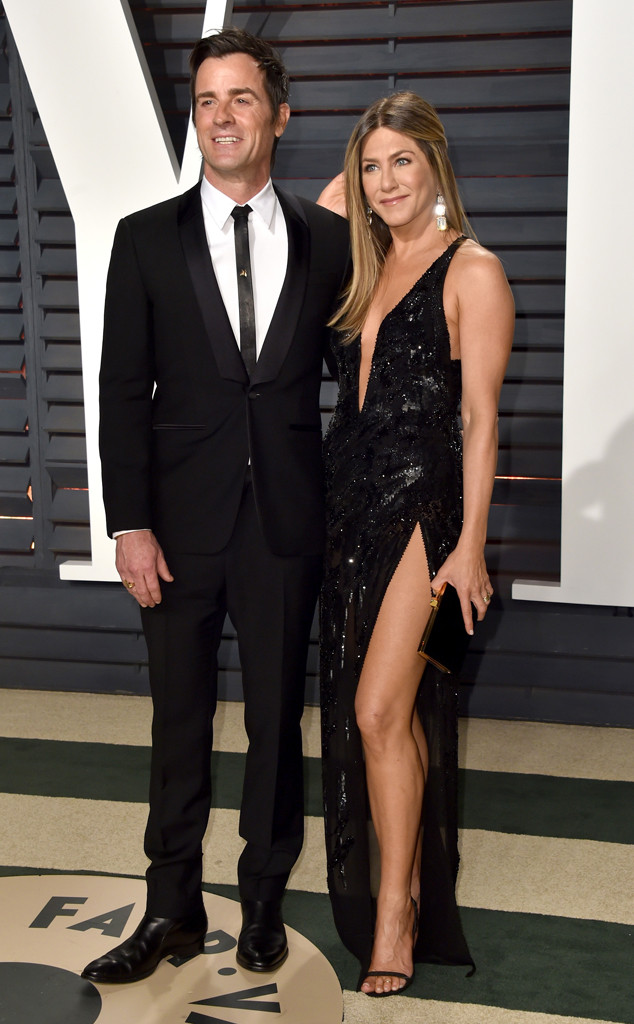 Justin Theroux, Jennifer Aniston, 2017 Oscars Party Pics, Vanity Fair